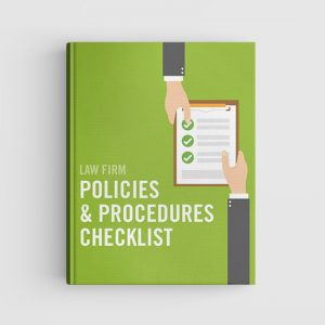 Law Firm Policies and Procedures book cover