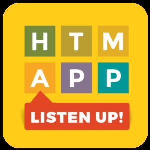 htm app listen up logo