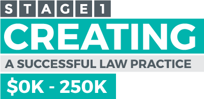 Stage 1 - Creating a successful law practice - $0K-$250K
