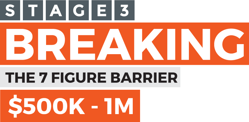 Stage 3 - Breaking the 7 figure barrier - $500K-$1MM