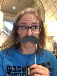 Kristen Keller with moustache