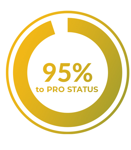 graph 95% to pro status