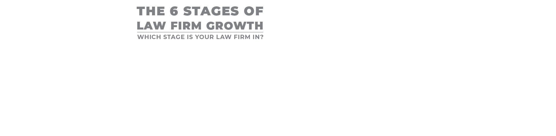 the six stages of law firm growth