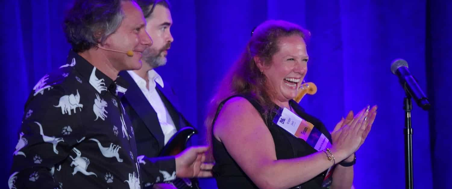 successful lawyers on stage at htm live quarterly meeting event