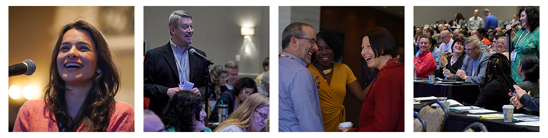 photos of happy lawyers attending HTM events