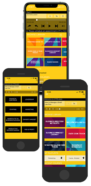 the how to manage a small law firm app