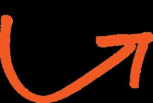 curved arrow orange right